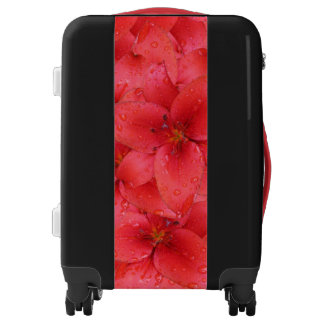 Garden Lilies Red Flower Photo Luggage