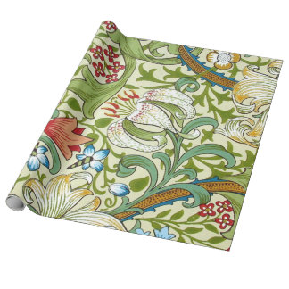 Garden Lily William Morris Fine Vintage Floral Wrapping Paper