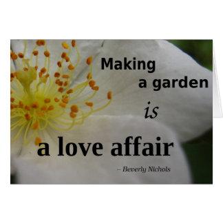 Garden love affair greeting card