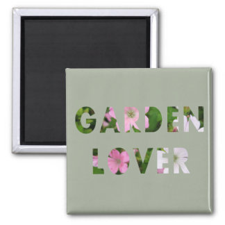 Garden Lover Floral Text Magnet