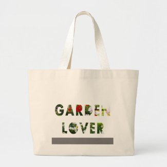 Garden Lover Floral Text Red White Green