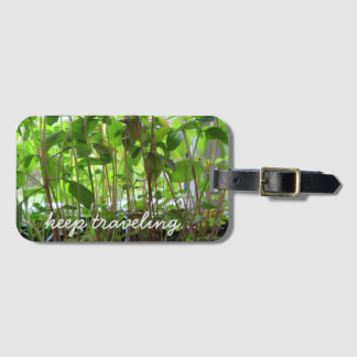 Garden Lover Green Seedlings Keep Traveling Luggage Tag