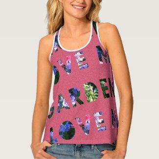 Garden Lover Text Design Pink Blue