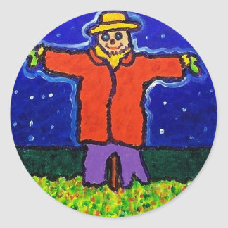 Garden Man by Piliero Round Stickers