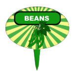 Garden marker / stake for Beans, NOT a Cake Toppers
