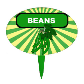 Garden marker / stake for Beans, NOT a Cake Topper