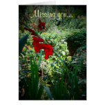 Garden (Missing you) Cards
