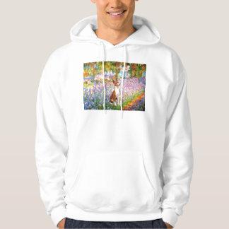 Garden (Monet) -Basenji Hooded Sweatshirt