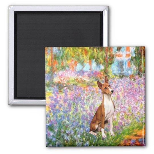 Garden (Monet) -Basenji Magnet