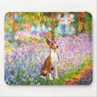 Garden (Monet) -Basenji Mouse Pad