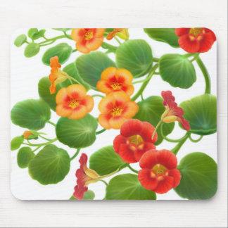 Garden Nasturtiums Mousepad