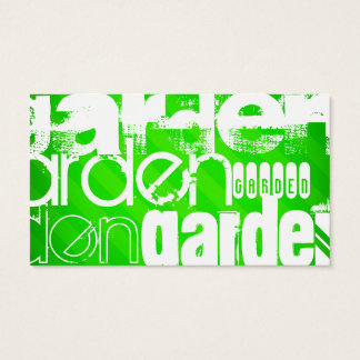 Garden; Neon Green Stripes Business Card