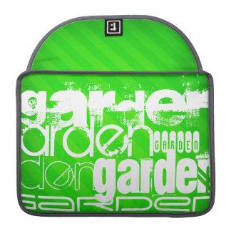 Garden; Neon Green Stripes Sleeves For MacBook Pro