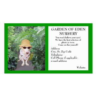 Garden Nursery Business Double-Sided Standard Business Cards (Pack Of 100)