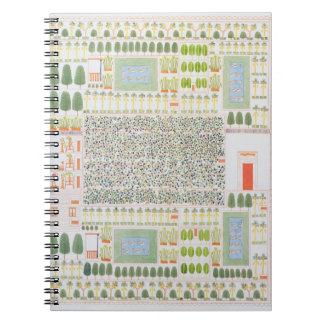 Garden of a High Ranking Egyptian Dignitary, from Spiral Notebook
