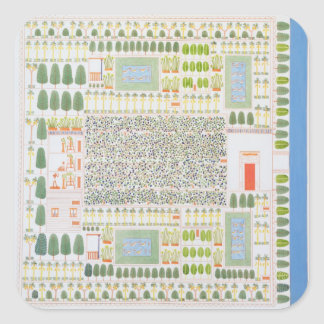 Garden of a High Ranking Egyptian Dignitary, from Square Sticker