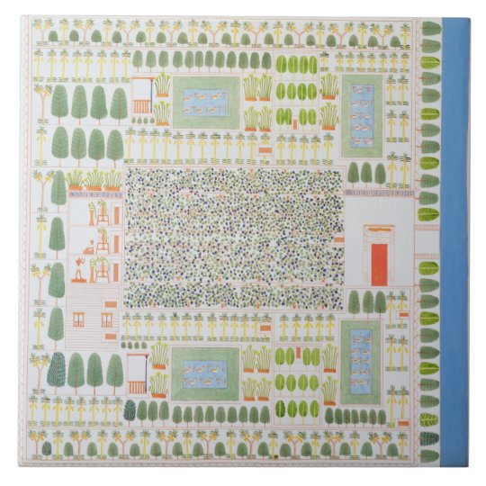 Garden of a High Ranking Egyptian Dignitary, from Tile