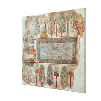 Garden of a private estate with an ornamental canvas print