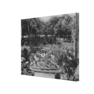 Garden of a Suburban Villa Canvas Print