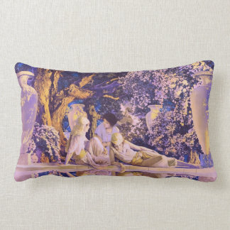 Garden of Allah, by Maxfield Parrish Lumbar Pillow