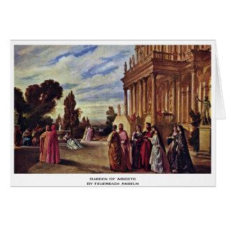 Garden Of Ariosto By Feuerbach Anselm Greeting Card