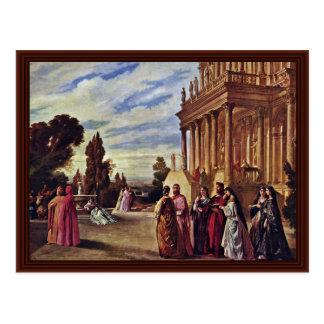 Garden Of Ariosto By Feuerbach Anselm Postcard