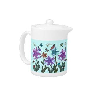 Garden of Beauty Custom Teapot