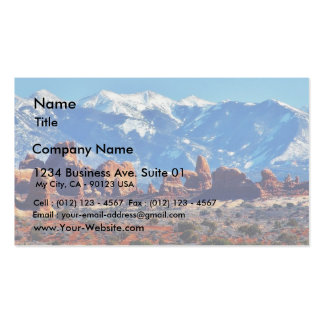 Garden Of Eden At Arches National Park Double-Sided Standard Business Cards (Pack Of 100)
