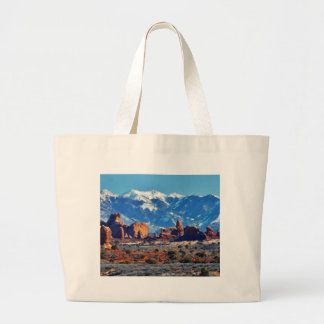 Garden Of Eden At Arches National Park Large Tote Bag