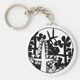 Garden of Eden Basic Round Button Keychain