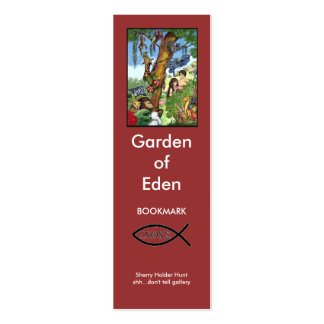 Garden of Eden bookmark Double-Sided Mini Business Cards (Pack Of 20)