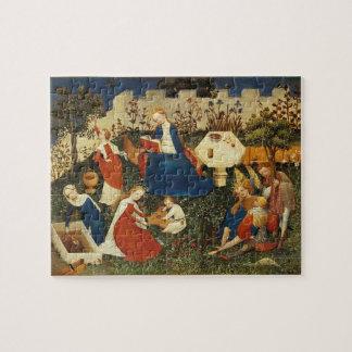 Garden of Eden medieval art Puzzle