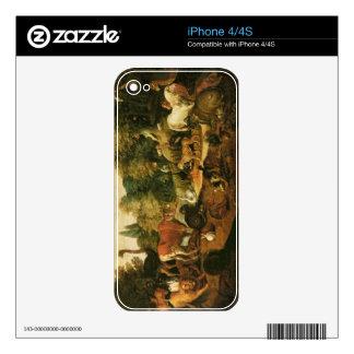 Garden of Eden (oil on canvas) iPhone 4 Skins