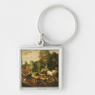 Garden of Eden (oil on canvas) Key Chain