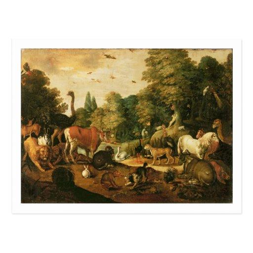 Garden of Eden (oil on canvas) Postcards
