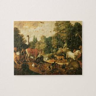 Garden of Eden (oil on canvas) Puzzle