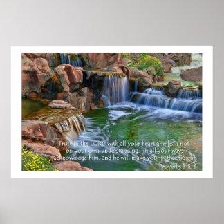 Garden Of Eden Proverbs 3:5-6 Poster