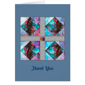 Garden of Eden Square Blue & Rose Mosaic Card