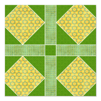 Garden of Eden Square Gold & Green Card