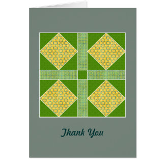 Garden of Eden Square Gold & Green Greeting Card