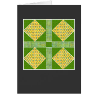 Garden of Eden Square Gold & Green Greeting Cards