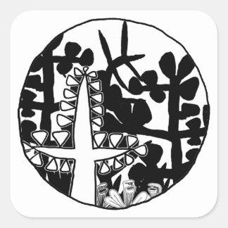 Garden of Eden Square Sticker