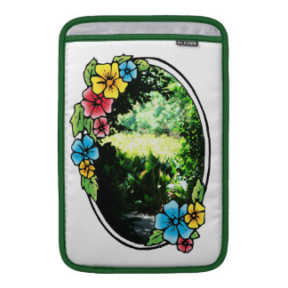 Garden of Eden with Colorful Frame MacBook Air Sleeve