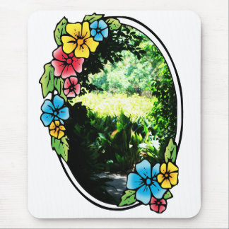 Garden of Eden with Colorful Frame Mouse Pad