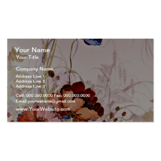 Garden of Eden Yellow flowers Double-Sided Standard Business Cards (Pack Of 100)