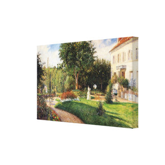 Garden of Les Mathurins at Pontoise by Pissarro Canvas Print
