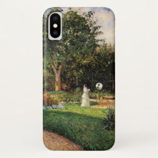 Garden of Les Mathurins at Pontoise by Pissarro iPhone X Case