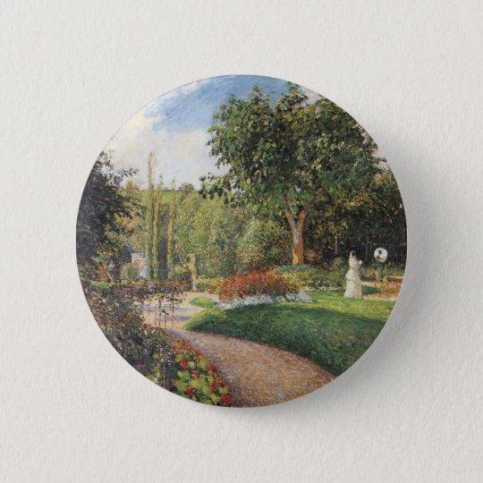 Garden of Les Mathurins at Pontoise by Pissarro Pinback Button