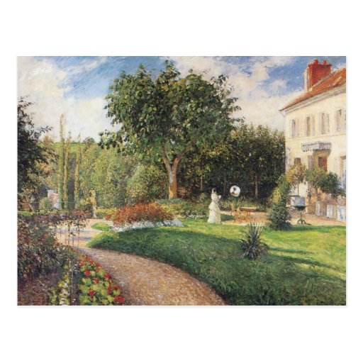Garden of Les Mathurins at Pontoise by Pissarro Post Card