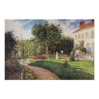 Garden of Les Mathurins at Pontoise by Pissarro Posters
